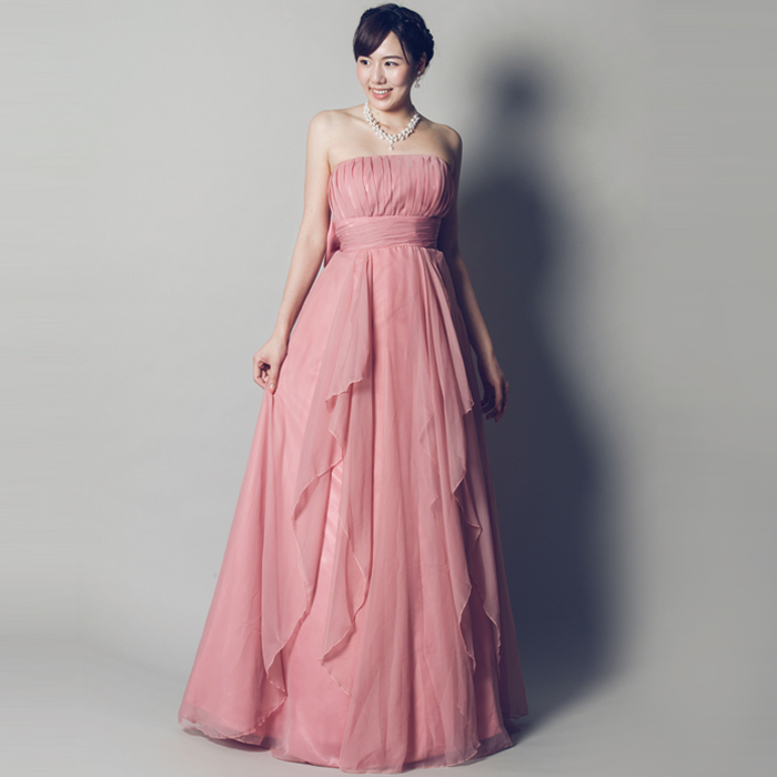 大きなリボンが演奏会での貴方を輝かせるダスティローズカラードレス