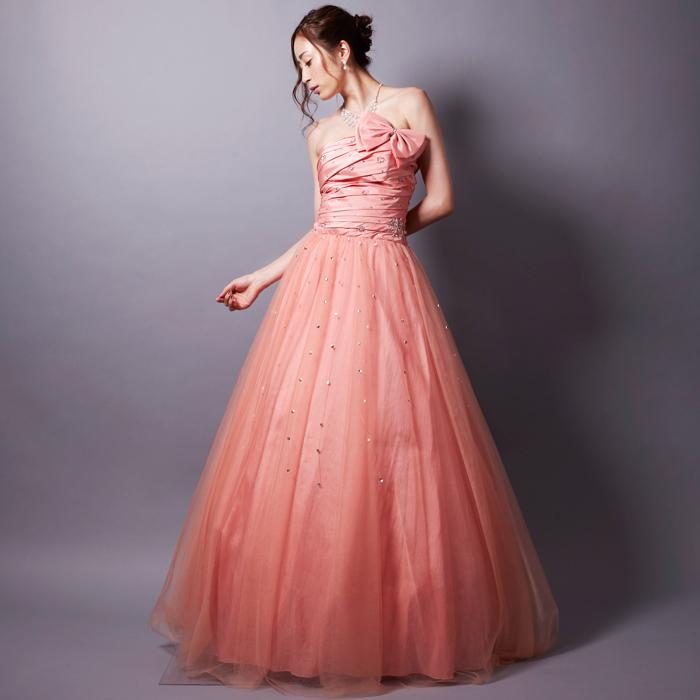 パーティーにも演奏会にもやはり人気ナンバーワンのピンクカラードレス