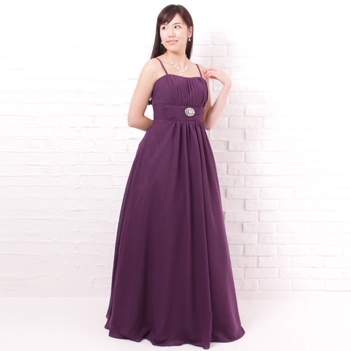 落ちついた曲調には最適のダークトーンパープルカラーで大人っぽい雰囲気のドレス