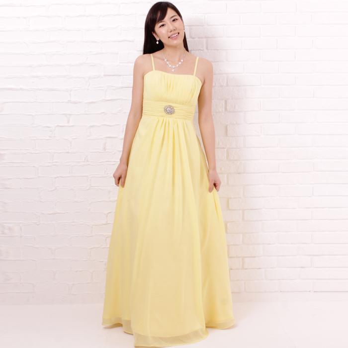 サンシャインの暖かみのある元気カラーが会場の雰囲気を盛り上げるドレス