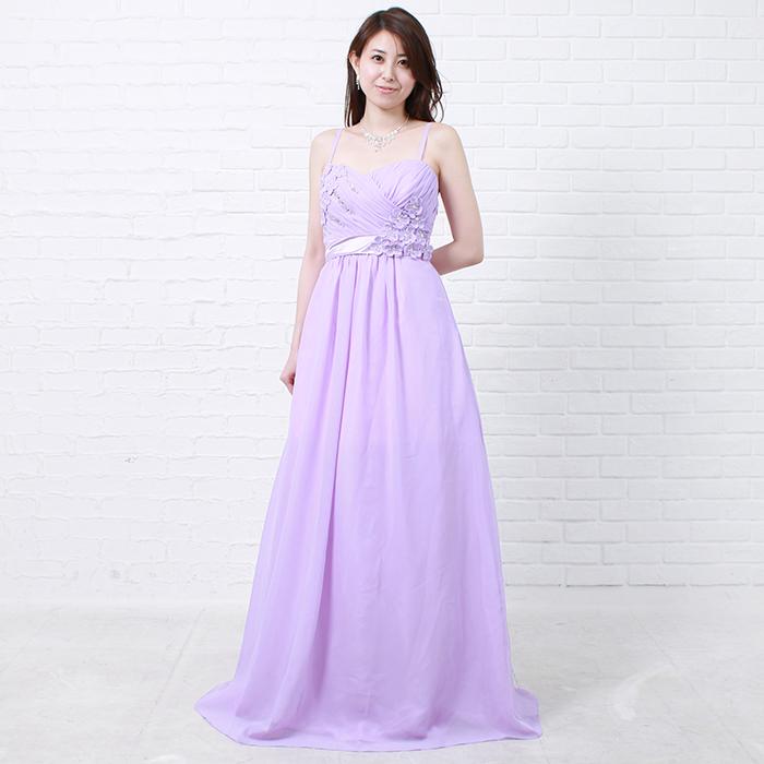 ワンランク上の女性の品格を感じさせるパープルカラードレス