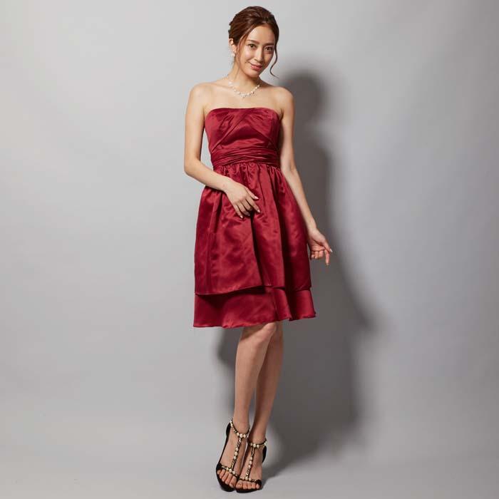 結婚式 ドレス 赤 靴