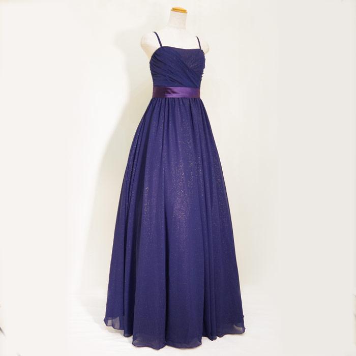 オトナかっこいいネイビードレス
