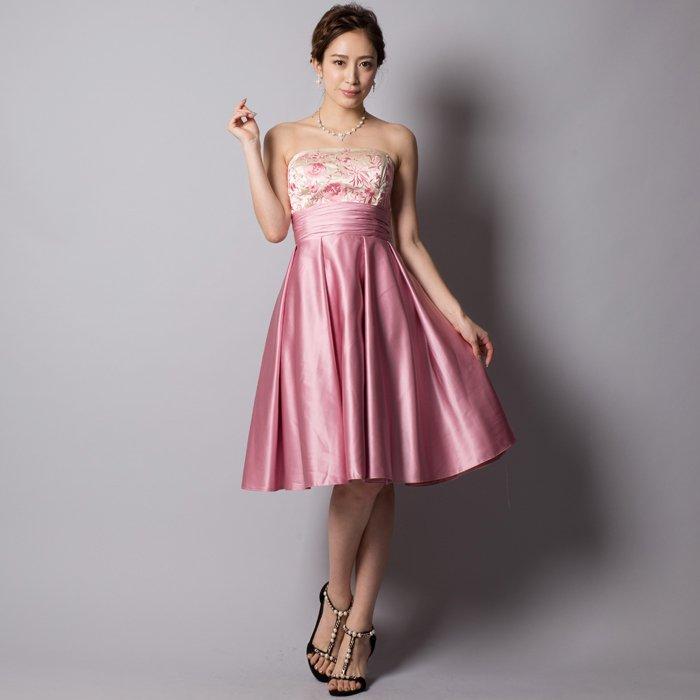 エレガントなダスティーローズミディアムドレス