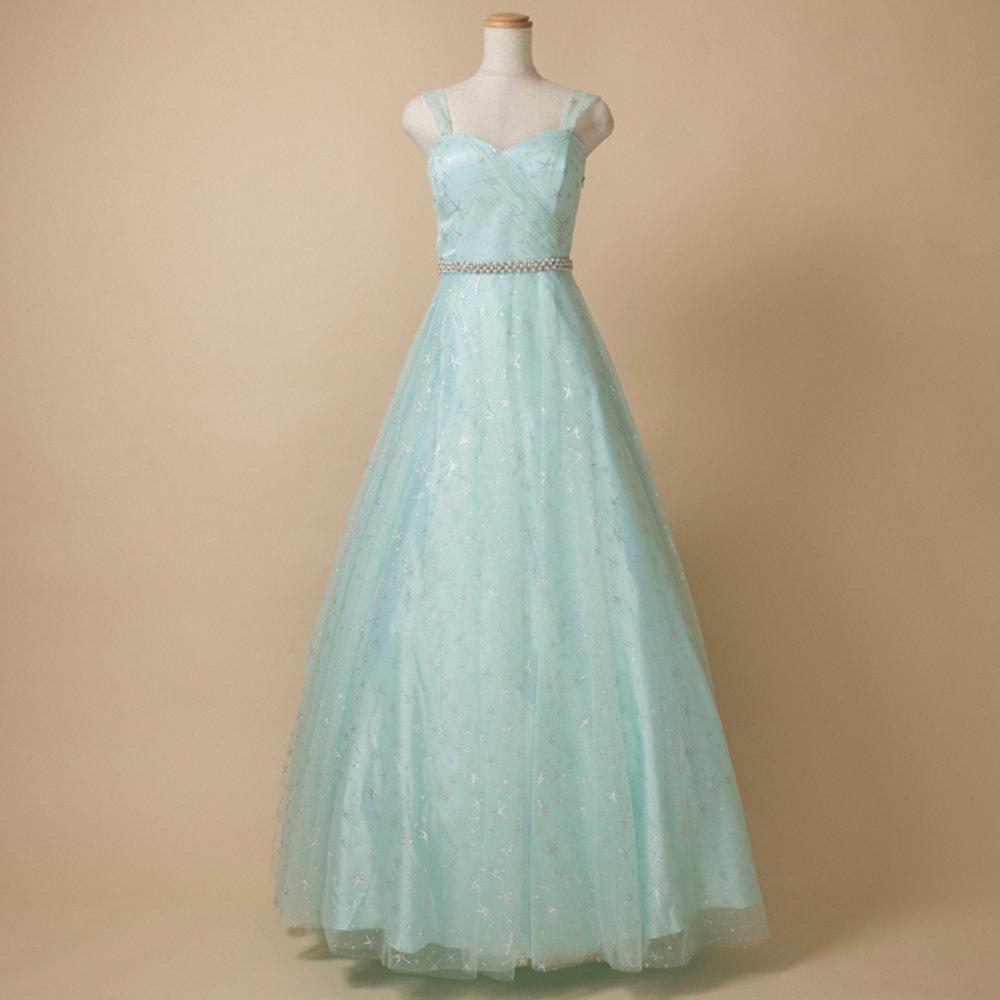 夏の演奏会におすすめ!ブルーミントカラーにシルバーグリッターが美しい幻想的なドレス