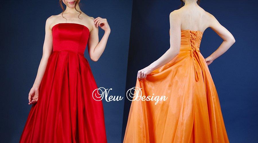 新デザインのレッドとオレンジカラードレスのスナップショット2018