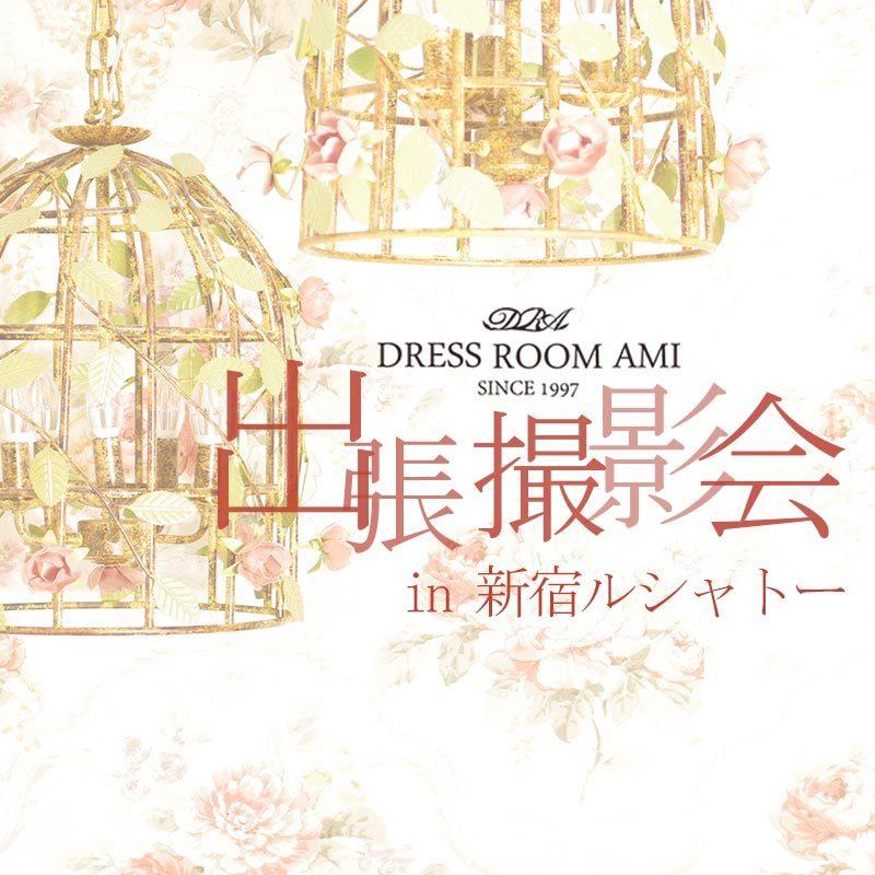 新宿の宮殿のような撮影スタジオでのドレス撮影会のお知らせ